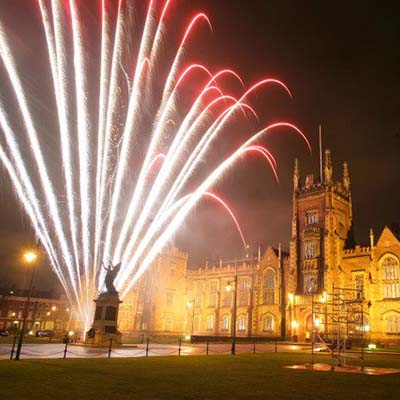 Fireworks at Queens University