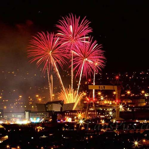 Fireworks in Belfast City