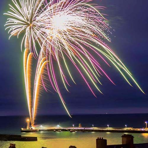 Fireworks at Groomsport Lighthouse
